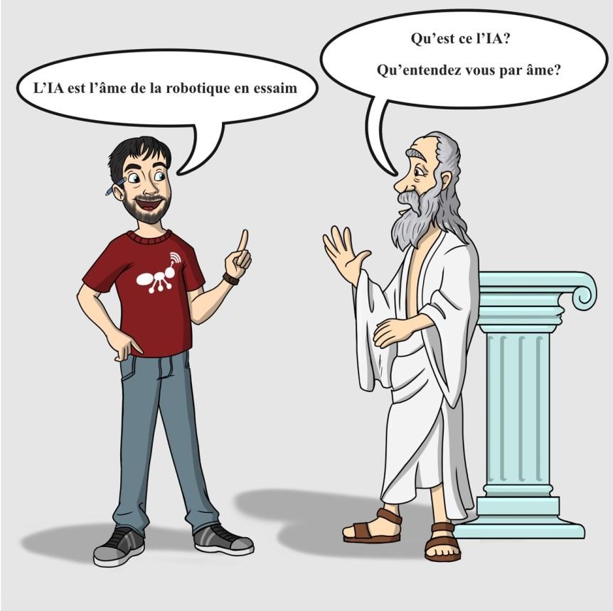 Dialogue avec Socrate sur l'IA, la robotique et le librearbitre